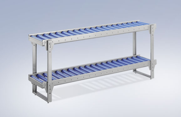 Roller conveyors and roller conveyor scales